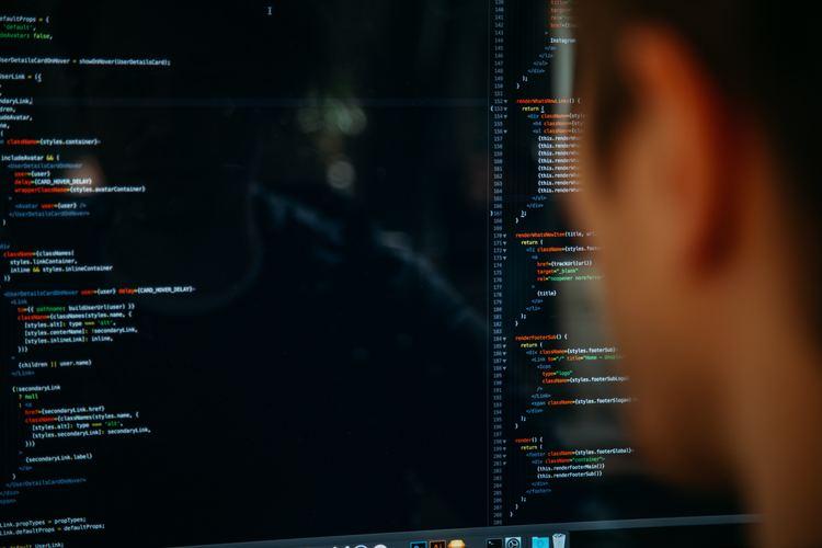 En person som ser på en dataskjerm.