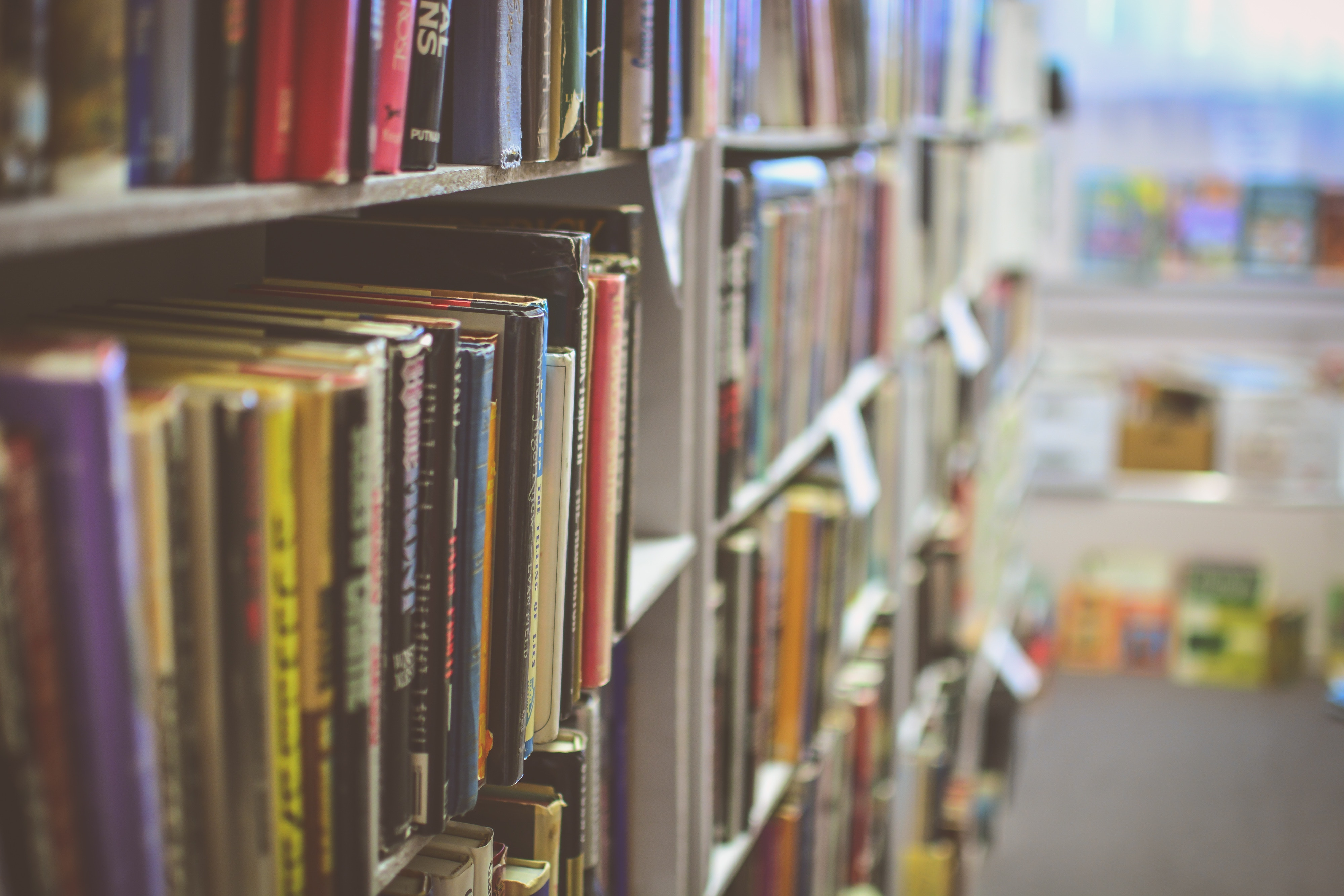 Bøker i bokhylle. Bilde av Jamie Taylor fra Unsplash.