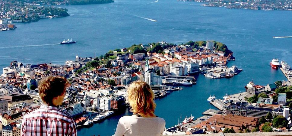 View from mount Fløyen. Photo.
